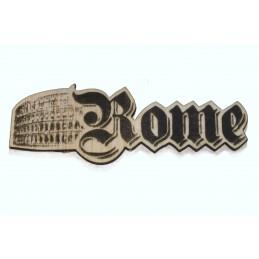 Rome Découpe  laser sur bois balsa 2 mm typographie Germanica 20 mm