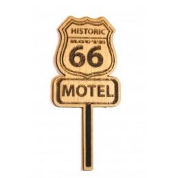 Découpe  laser sur bois balsa 2 mm panneau Motel route 66 années 60