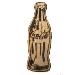 Découpe  laser sur bois balsa 2 mm panneau bouteille en verre de cola années 60