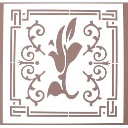 POCHOIR PLASTIQUE 20*20cm : motif antique (43)