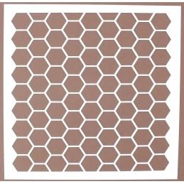 POCHOIR PLASTIQUE 20*20cm : motif géométrie (18)