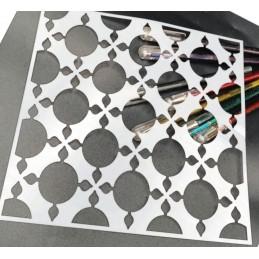 POCHOIR PLASTIQUE 20*20cm : motif géométrie (19)