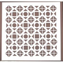 POCHOIR PLASTIQUE 20*20cm : motif géométrie (21)