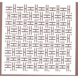 POCHOIR PLASTIQUE 20*20cm : motif fantaisie (102)