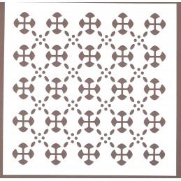 POCHOIR PLASTIQUE 20*20cm : motif fantaisie (104)