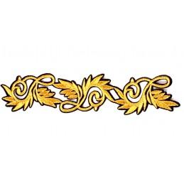 APPLIQUE TISSU THERMOCOLLANT : bordure gold/noir 17*5cm (02)