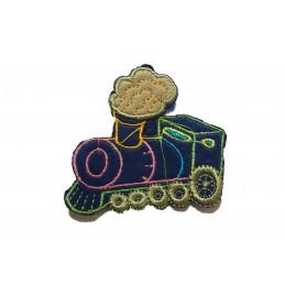 APPLIQUE TISSU THERMOCOLLANT : locomotive  6*5cm