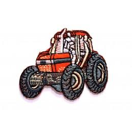 APPLIQUE TISSU THERMOCOLLANT : tracteur 6*5cm