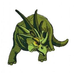 APPLIQUE TISSU THERMOCOLLANT : dinosaure 9*9cm (13)