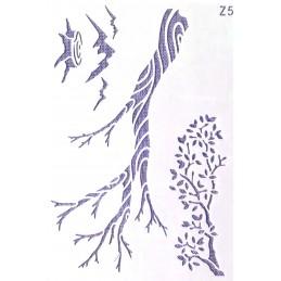 POCHOIR PLASTIQUE 26*18cm : branches (03)