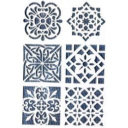 POCHOIR PLASTIQUE 26*18cm : motif antique (46)