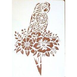 POCHOIR PLASTIQUE 30*21cm : perroquet (01)
