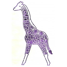 POCHOIR PLASTIQUE 30*21cm : girafe (01)