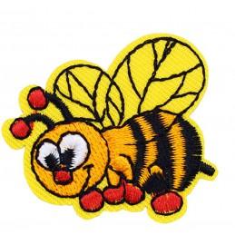 APPLIQUE TISSU THERMOCOLLANT : abeille 4*4cm
