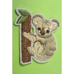 APPLIQUE TISSU THERMOCOLLANT : koala 4*3cm