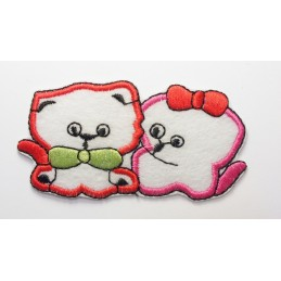 APPLIQUE TISSU THERMOCOLLANT : chat 8*4cm