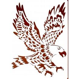 POCHOIR PLASTIQUE 30*21cm : aigle (01)