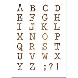 Pochoir Lettre A4 en plastique Mylar Alphabet racine 30 mm