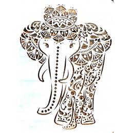 POCHOIR PLASTIQUE 30*21cm : éléphant (03)