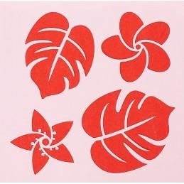 POCHOIR PLASTIQUE 13*13cm : feuilles (11)