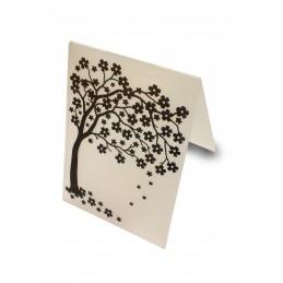 Classeur d'embossage en plastique motif Arbre fleuri 14.5*10.6*0.3 cm
