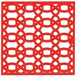 POCHOIR PLASTIQUE 20*20cm : motif fantaisie (99)