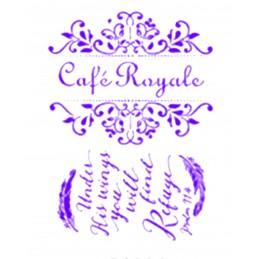 POCHOIR PLASTIQUE 30*21cm : café royale