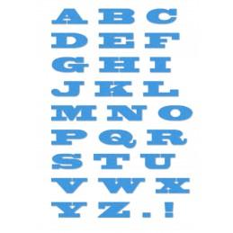 Alphabet 30 mm typo Blackoak en découpe cardstock canson  230 gr