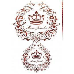 POCHOIR PLASTIQUE 30*21cm : couronne et frise antique