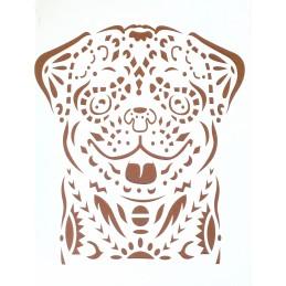 POCHOIR PLASTIQUE 30*21cm : chien (01)