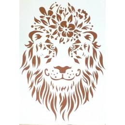 POCHOIR PLASTIQUE 30*21cm : lion (03)