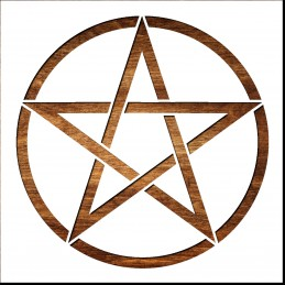 Pochoir 21  x 21 cm en plastique mylar : Pentagramme