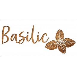 Pochoir 21  x 10 cm en plastique mylar :aromate basilic