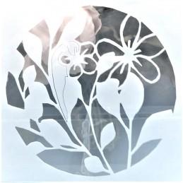 POCHOIR PLASTIQUE 13*13cm : fleur (16)