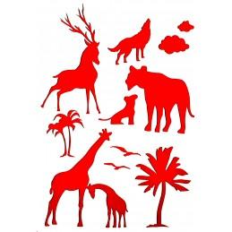 POCHOIR PLASTIQUE 30*21cm : animaux (15)