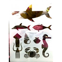 POCHOIR PLASTIQUE 30*21cm : animaux (16)