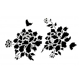 POCHOIR PLASTIQUE 30*21cm : fleurs (53)