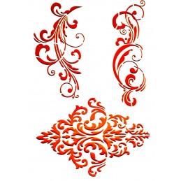 POCHOIR PLASTIQUE 30*21cm : motif antique (49)