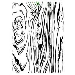 POCHOIR PLASTIQUE 30*21cm : veinage bois (01)