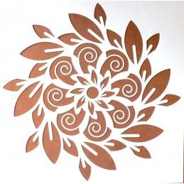 POCHOIR PLASTIQUE 15*15cm : motif fleur (10)