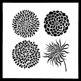 POCHOIR PLASTIQUE 13*13cm : fleur (61)