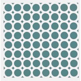 POCHOIR PLASTIQUE 13*13cm : Ronds (08)