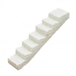 MINIATURE EN RESINE : escalier droit blanc longueur 6cm