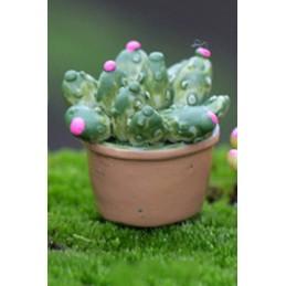 MINIATURE EN RESINE : cactus hauteur 2cm