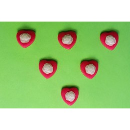 LOT 6 BOUTONS : coeur rose...