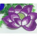 APPLIQUE THERMOCOLLANT : fleur nénuphar violette 130 x90mm