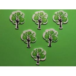 LOT 6 BOUTONS BOIS : arbre...