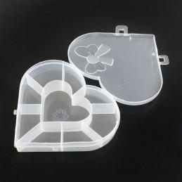 Boite vide plastique forme coeur 15*13cm