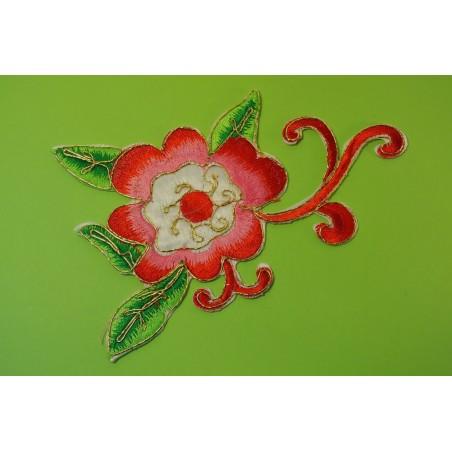 APPLIQUE THERMOCOLLANT : fleur 150 x90mm