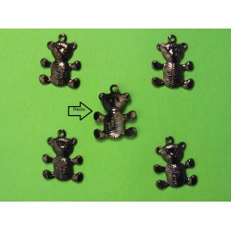 LOT 5 CHARMS METALS : ourson 17 mm